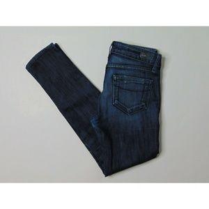 Paige 24 Skyline Ankle Blue Jeans Skinny Denim